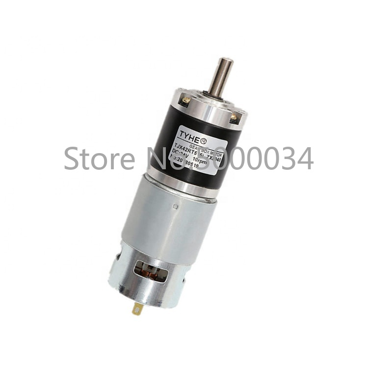 Verified Supplier D42mm 12v <font><b>24v</b></font> rs-775 <font><b>high</b></font> <font><b>torque</b></font> 60kg.cm 12nm <font><b>dc</b></font> planetary <font><b>gear</b></font> <font><b>motor</b></font> with <font><b>encoder</b></font> for Shoe covers machine image