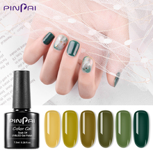 Nail Gel Polish High Quality Nail Art Gel Lacquer For Salon Green Avocado Series Soak off UV LED Nail Gel Varnish 7.5ml G221 nail lacquer shaker adjustable nail art uv led gel polish varnish bottle shaking machine fit for all size gel bottles