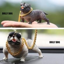 New Version Cool Bulldog Resin Car Dashboard Toys Car Ornaments Creative Voiture Ornament Car Interior Decoration Accessories