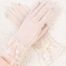 Sunscreen gloves lady ice lace outdoor riding sunscreen