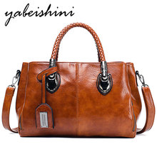 купить New Boston bag women handbags for women 2019 high quality Oil wax crossbody bags for ladies hand bag sac a main femme leather Female shoulder bag дешево