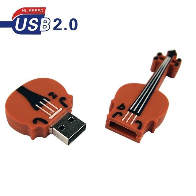 Cello Usb Flash Drive Usb Pen Drive 2.0 128Mb 32Gb 64Gb Usb Pendrives Cartoon Memory Stick Usb creatieve Muzikale U Disk Voor Geschenken