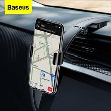 Baseus מתכת רכב מחזיק עבור iPhone X סמסונג S9 נייד טלפון מחזיק Stand הכבידה אוויר Vent הר GPS לרכב טלפון מחזיק Bracket