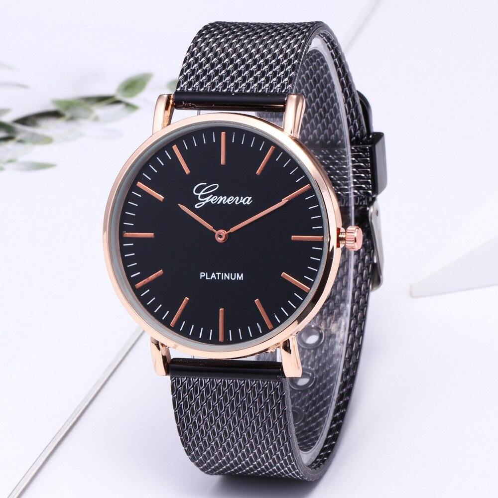 Fashion Men Women Quartz Watch Luxury Stainless Steel Watches Causal Wrist Watch Thanksgiving Gift