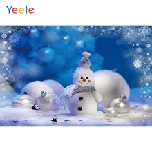 Yeele Christmas Party Photocall Bokeh Lights Snowman Photography Backdrop Personalized Photographic Backgrounds For Photo Studio