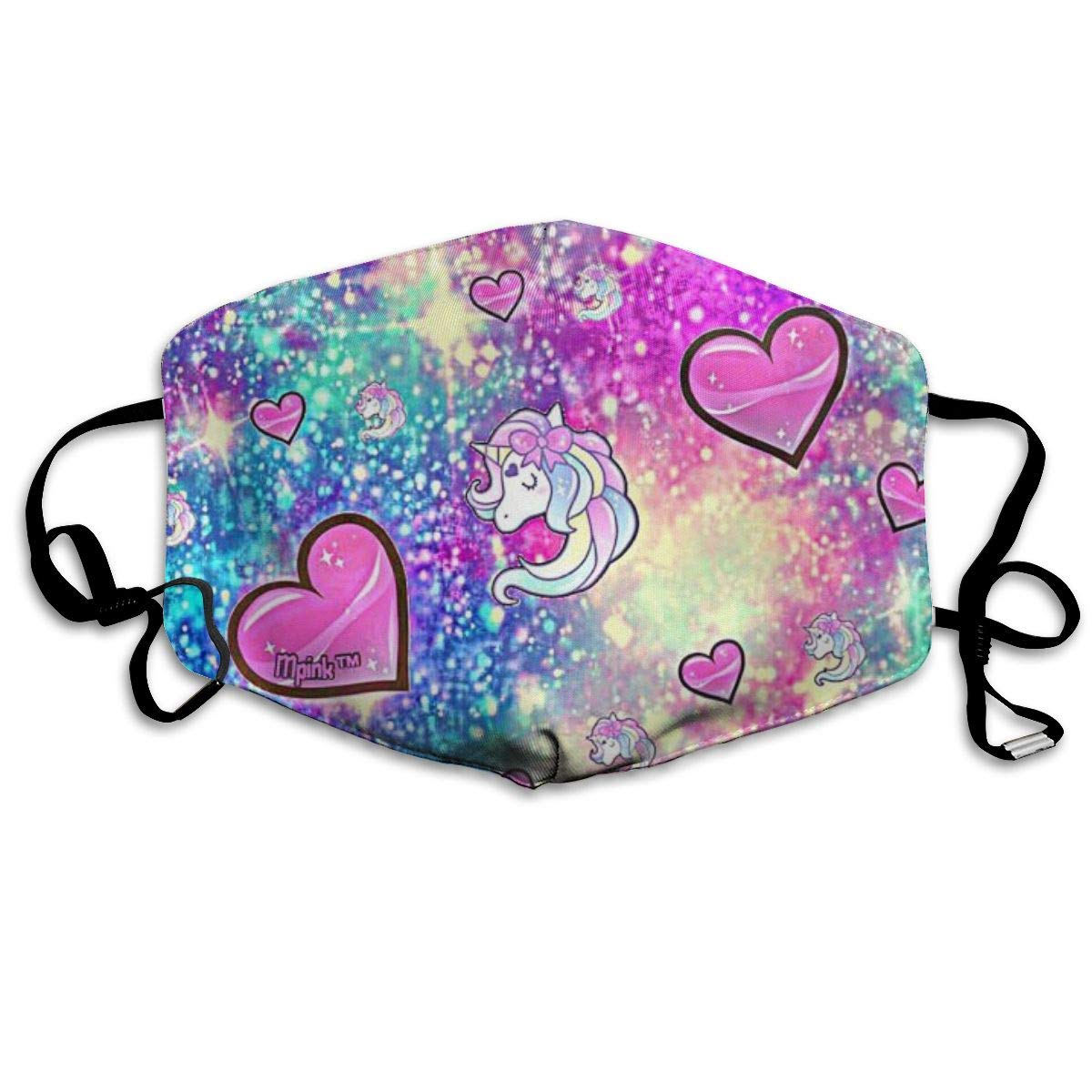 Colorful Unicorn Unisex Mask Indoor Outdoor Cycling Camping Travel Windproof Sun Anti Dust Mask Mouth With Adjustable Ear Loops