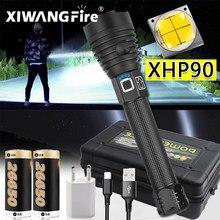 300000 Lm Xhp90 Plus Puissante Lampe De Poche Led Torche Usb Xhp50 Rechargeable Lampes De Poche Tactiques 18650 ou 26650 Lampe à main Xhp70