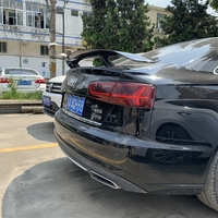 Carbon fiber /FRP GT style rear trunk spoiler for Audi A3 A4 A5 A6 A7 TT S3 S4 S5 S6 S7 rear wing lip spoiler