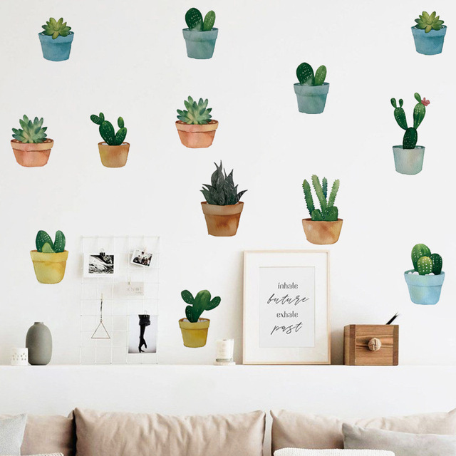 Pot Plant Wall Stickers 6