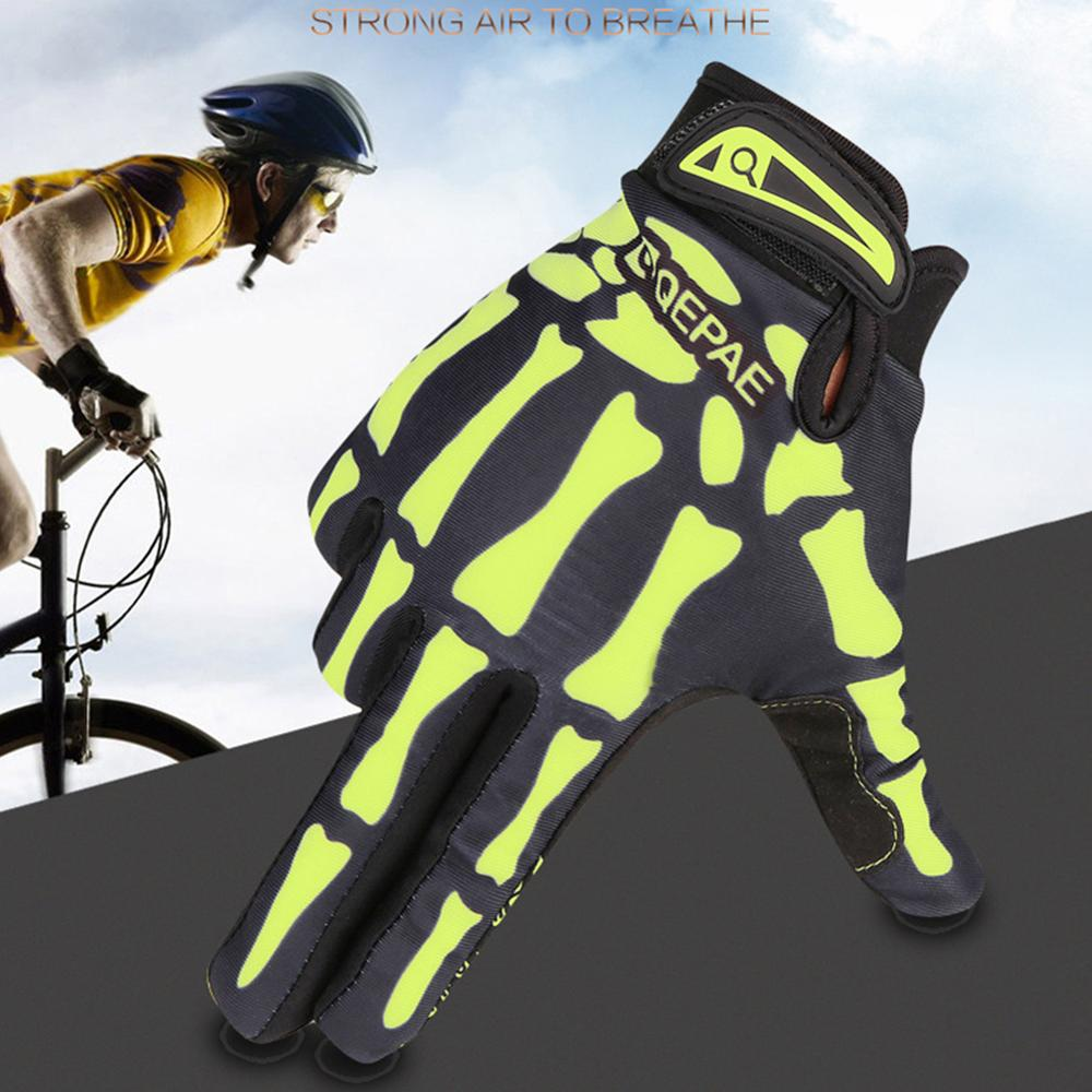 Riding Gloves Long Finger Warm Gloves Cycling Outdoor All Finger Skeleton Gloves