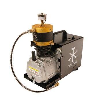 TUXING TXES012 4500Psi PCP kompresor wysokociśnieniowy regulowany Auto Stop sprężarka elektryczna do pneumatycznego karabin zbiornik powietrza