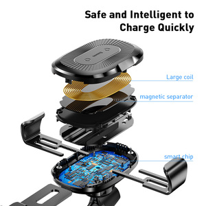 Image 4 - Baseus Wireless Car Phone Holder 10W Fast Charging Stand For Iphone 11 Pro 4.0 6.5 Inch Gravity Auto CD Slot Support Car Mount