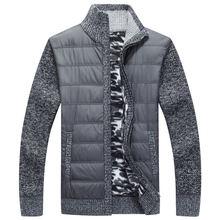Осенне зимний флисовый свитер пальто мужской плотный теплый