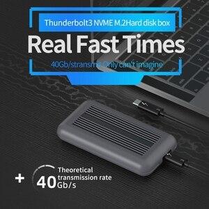 Thunderbolt 3 M.2 NVME корпус ssd-бокс NVME к TYPE-C Алюминиевый USB 3,1 40 Гбит/с M.2 диск PCIe SSD чехол