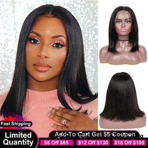 Yyong 13x4 Blunt Cut Bob Wig Short Lace Front Human Hair Wigs Remy Brazilian Straight Bob Wigs With Baby Hair HD Transparent Wig