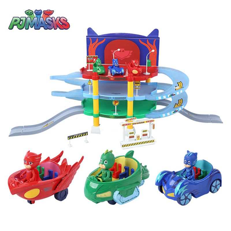 PJ Masks Toys Orbital Training Base Vehicle Toy Set Cartoon Catboy Owlette Gekko Anime Action Figure Toy Dolls Children Gift