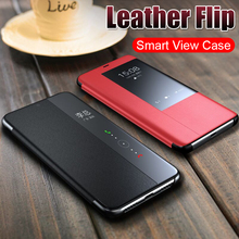 Luxury Leather Flip Case On The For Huawei Mate 20 Pro X Smart View Case For Huawei Mate 10 20 P30 Lite Shockproof Case Cover smart app mirror flip case for huawei mate 8 9 10 pro flip leather holder case for huawei mate 20 pro 20 lite 20x back cover