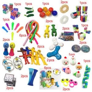 Новинка 2020, забавная комбинация, 50 штук, игрушки для детей с прессивным раствором, Лидер продаж, разные стили, набор игрушек, оптовая продажа