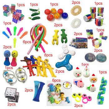 2020 New Funny Combination 50 Pieces Extrusive-Solving Fidget Kids Toys Hot Selling Various Styles Toy Set Wholesale