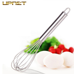 6/8/10/12 Inches Stainless Steel Egg Beater Hand Egg Whisk Mixer Kitchen Cake Cooking Tools