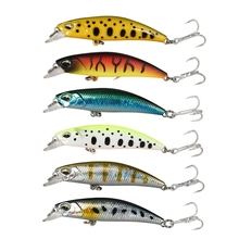 цена 1pcs Sinking laser Fishing bait 60mm 4.5g ABS Plastic Minnow hard lure Freshwater Fishing wobblers tackle Isca artificial pesca онлайн в 2017 году