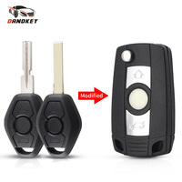 Dandkey-Funda de mando a distancia modificada para coche, carcasa de repuesto con tapa, 3 botones, Fob, para BMW 1, 3, 5, 6, 7 Series, X3, X5, Z3, Z4