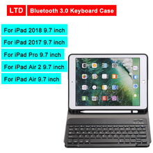 Bluetooth 3.0 Tablet Keyboard Case For iPad 2018/iPad 2017/iPad Pro/Air 2/Air 9.7 inch Flip Leather Cover For Apple Mediapad kemile for ipad pro 9 7 wireless bluetooth keyboard folios case cover for apple ipad air 2 keypad for ipad 2018 9 7 inch