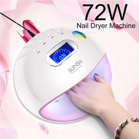 Mini LED Nail Dryers 72W UV SUN5s Light Nail Dryer Machine Gel Polish Nail for home use Nail Art Tools Nail