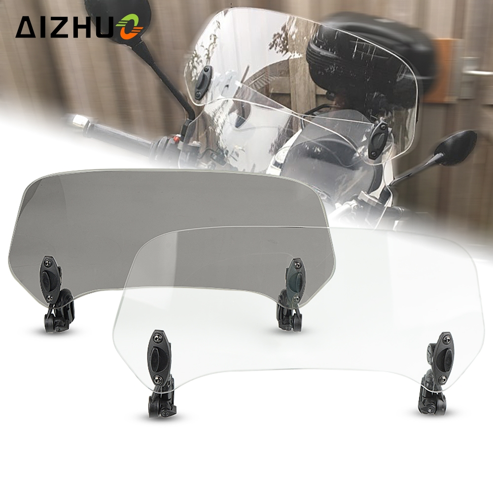 Motorcycle Wind Screen Windshield Spoiler Air Deflector for <font><b>HONDA</b></font> <font><b>XL</b></font> 650 600 <font><b>700</b></font> 1000 125V yamaha SRV250 SRX 400 600 TDR250 image