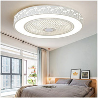 Modern LED Ceiling Fans With Lights For Living Room 220V Cooling Ventilador Round Ceiling Fan Lamp With Remote Cont