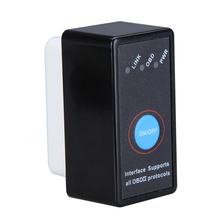 цена на Wholesale Super Mini Bluetooth ELM327 Interface OBD2 CAN-BUS Diagnostic Car Scanner Tool V6
