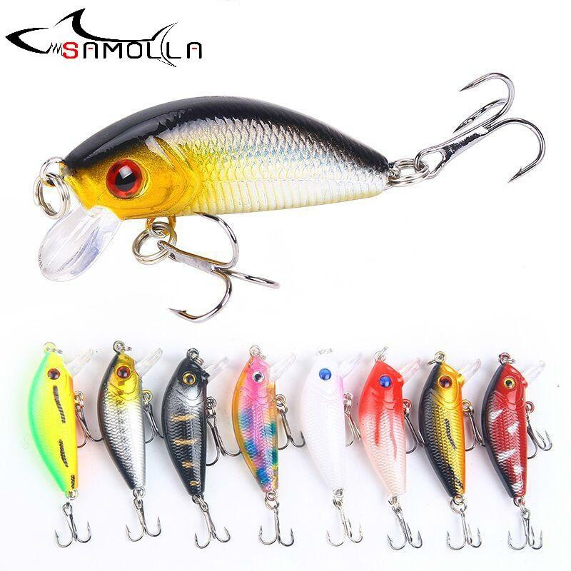 Crankbait Fishing Lure Weights 5cm/4.2g Mino Rock Bass Fishing 0.5-1.5m Deep Articulos De Pesca Isca Artificial Fake Fish Bait