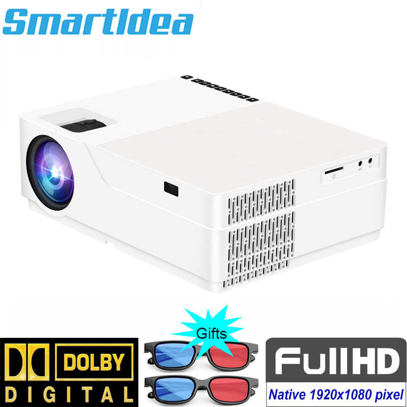 Smartidea 5500 Lumen 1920x1080native HD Proyektor LED 3D Home Cinema Proyektor 1080P LCD Digital Video HDMI Projector Permainan Beamer