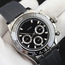 AAA quality day watch tona automatic  ceramic bezel rubber strap all small dials works silver watches 16233