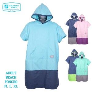 Image 1 - Ananas Surf Style Poncho plażowe szybko suszone Unisex mężczyźni kobiety zmień kombinezon szlafrok ręcznik z mikrofibry