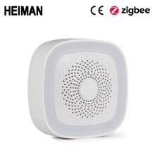 HEIMAN WiFi kit maison intelligente passerelle porte fenêtre PIR mouvement monoxyde de carbone gaz zigbee capteur détecteur de fumée sirène alarme