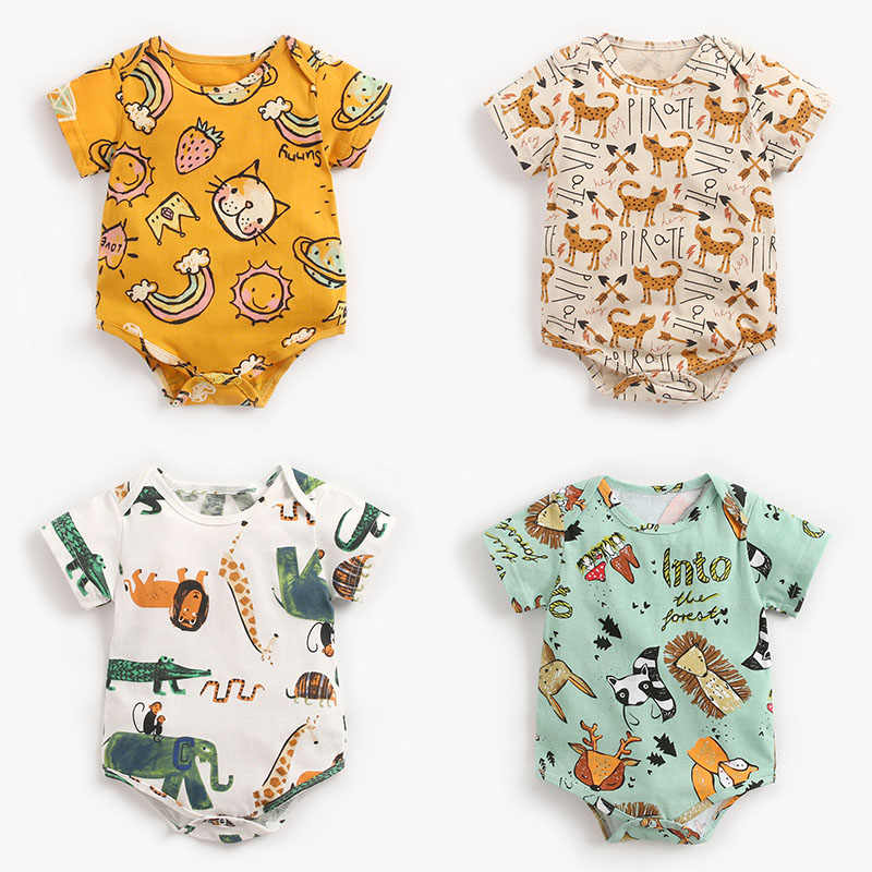 2020 Newborn Baby Bodysuit Children Clothing Twins Fashion Girls Boy Clothes Jumpsuit Girls Clothing Suit Cotton 0-36M Body Bebe