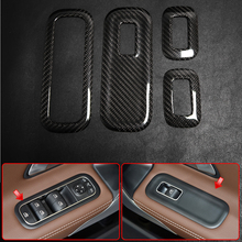 For Mercedes Benz CLA Class C118 CLA180 CLA200 2020 2021 Real Carbon Fiber Interior Door Window Lift Switch Button Sticker Trim