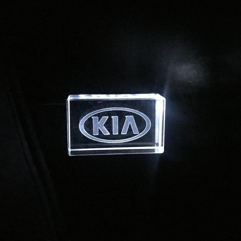 HOT KIA Crystal + Metal USB Flash Drive Pendrive 4GB 8GB 16GB 32GB 64GB 128GB External Storage Memory Stick Logo Custom U Disk
