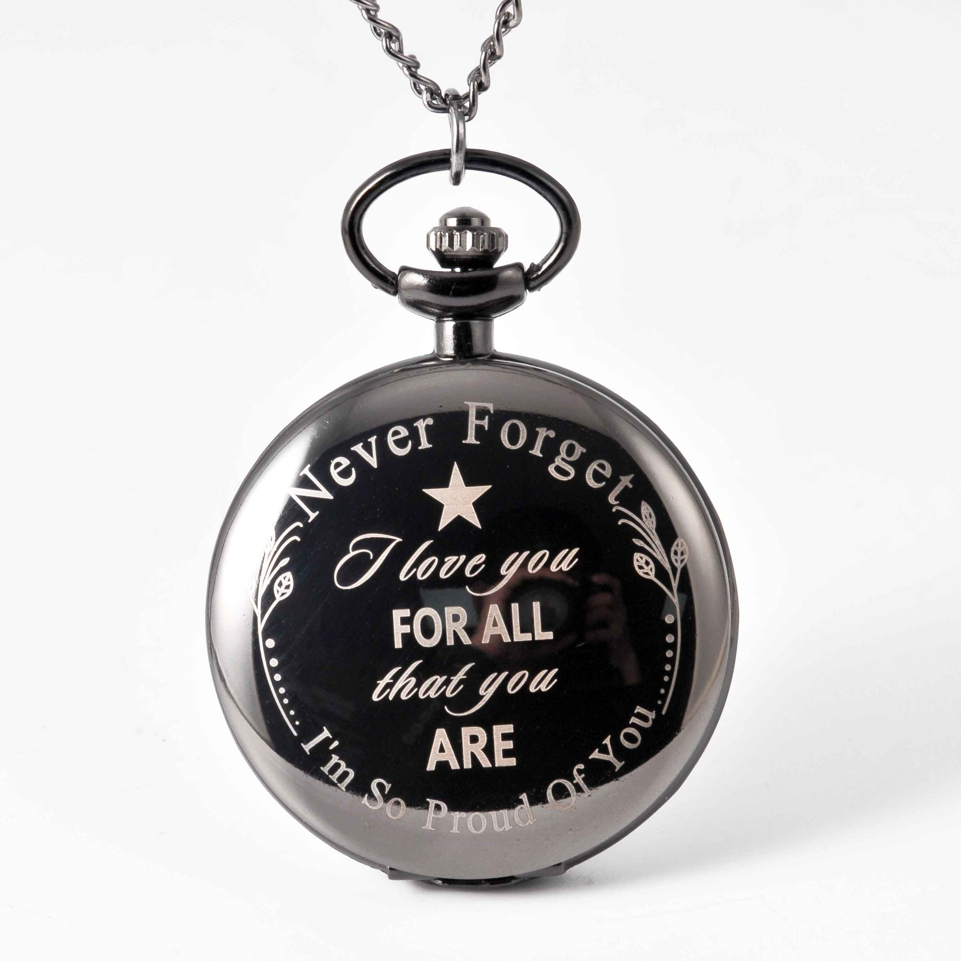 Pocket & Fob Watches Never Forget I Love You  Pocket Watch Necklace I Love You Forever Quartz Watch  for  Son's Gift Watch