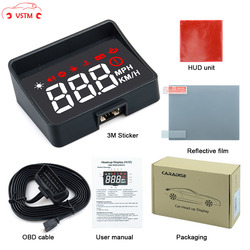 New Arrival A100S Car HUD Head Up Display OBD2 EUOBD Overspeed Warning Auto Electronic Voltage Alarm Better Than A100 HUD