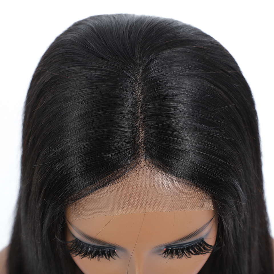 Wig Straight Short Bob Lace Front Wigs 4x4 Lace Front  Wigs Pre-plucked With Baby Hair  5