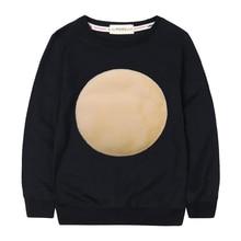 Kids Autumn Cotton Sweatshirts Velvet Circle Logo Simple Girls Winter Tops  Baby Girl  Hoodies Casual Boy Sweatshirts