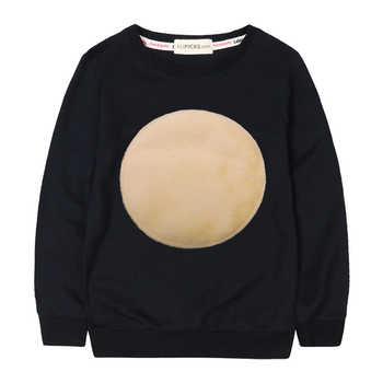 Kids Autumn Cotton Sweatshirts Velvet Circle Logo Simple Girls Winter Tops  Baby Girl  Hoodies Casual Boy Sweatshirts - DISCOUNT ITEM  22% OFF All Category