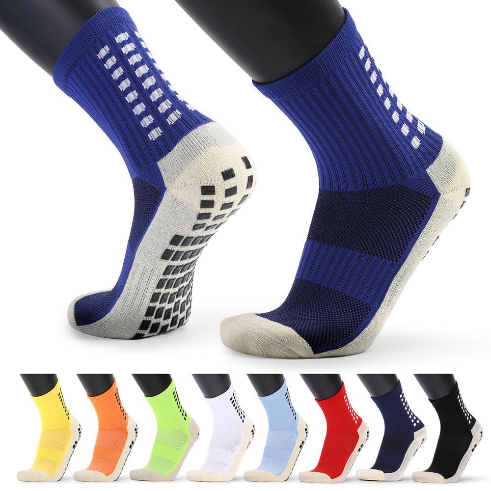 New Men's Sports Socks Thick Towel Bottom Men's Mid-tube Dispensing Non-slip Football Socks Basketball Socks Sports Stockings