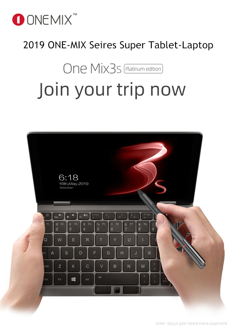 One Mix 1S/2S/3S Series Pocket Tablet Laptop 8+256G/16G+512G SSD Intel Core I7-8500Y Windows 10 HDMI Type-C USB TF 2.4/5G WIFI