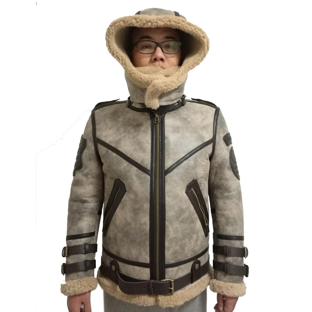 2019 Fashion 100 Quality Real Sheepskin Fur Men Coat Genuine Full Pelt Sheep Shearling Male Winter 2019 Fashion 100% Quality Real Sheepskin Fur Men Coat Genuine Full Pelt Sheep Shearling Male Winter Jacket Brown Men Fur Outwear