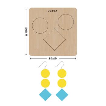 SMVAUON notatnik Die Cut Cartoon Collage okrągły kolczyk handmade nowe matryce drewniany szablon do wycinania formy do wykrawania drewna tanie i dobre opinie Koło Plac Leather Tools