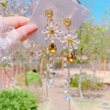 Женские серьги подвески с жемчугом mengjiqiao новые элегантные