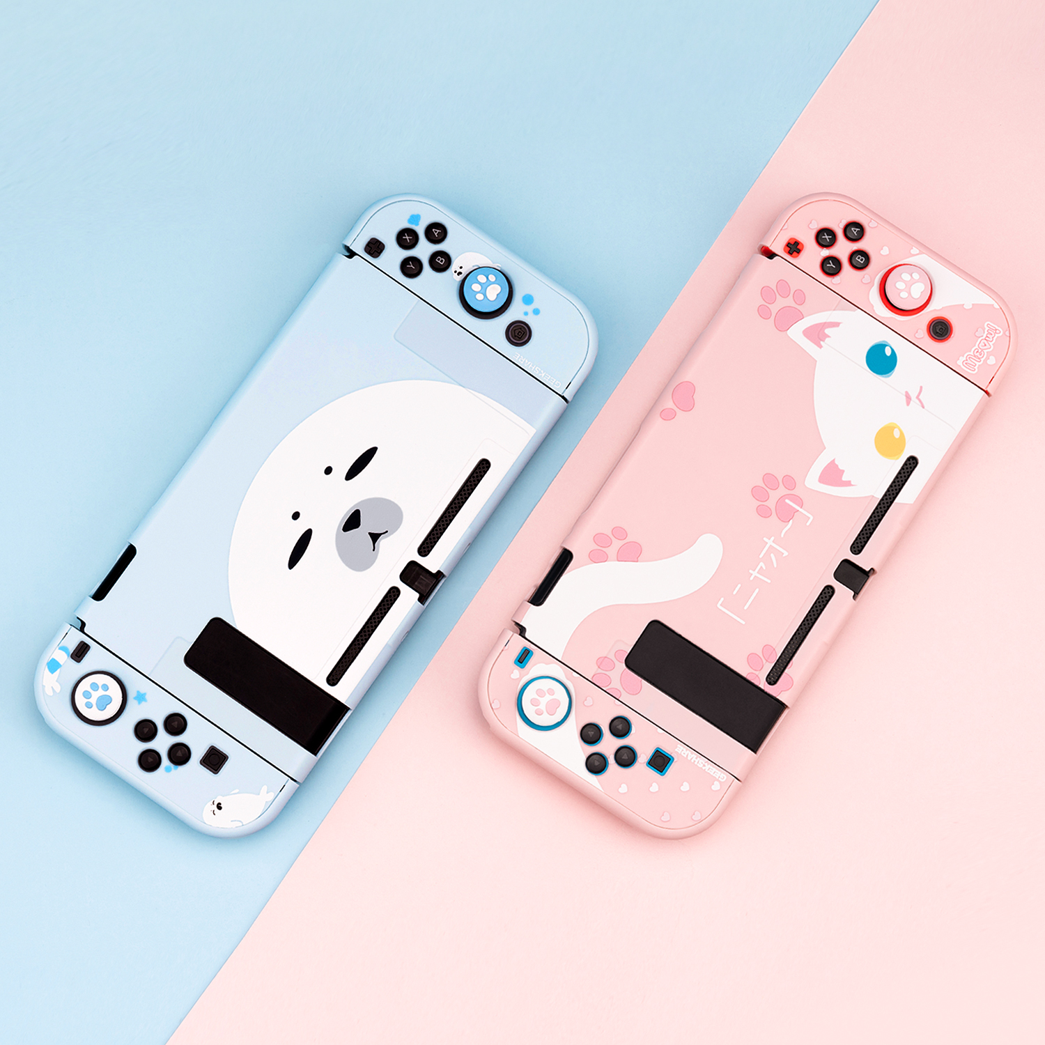 Nintendo Switch Case Cute Seal Cat Full Cover Shell Joy-Con Controller Shell Hard Cover Box For Nintendo Switch Accessories